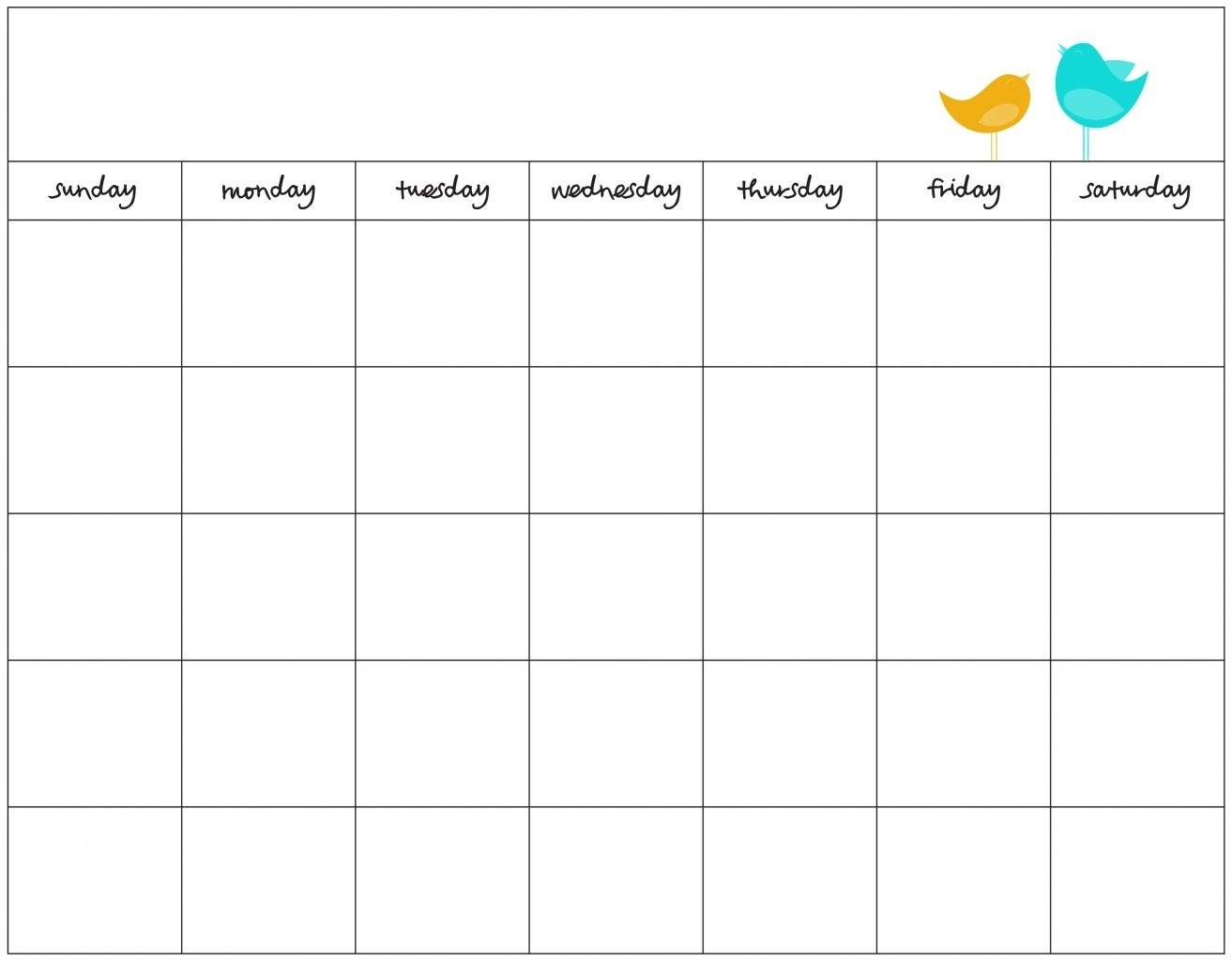 7 Day Schedule Template Elegant Blank Calendar Of Ready Thus  7-Day Week Blank Calendar Template