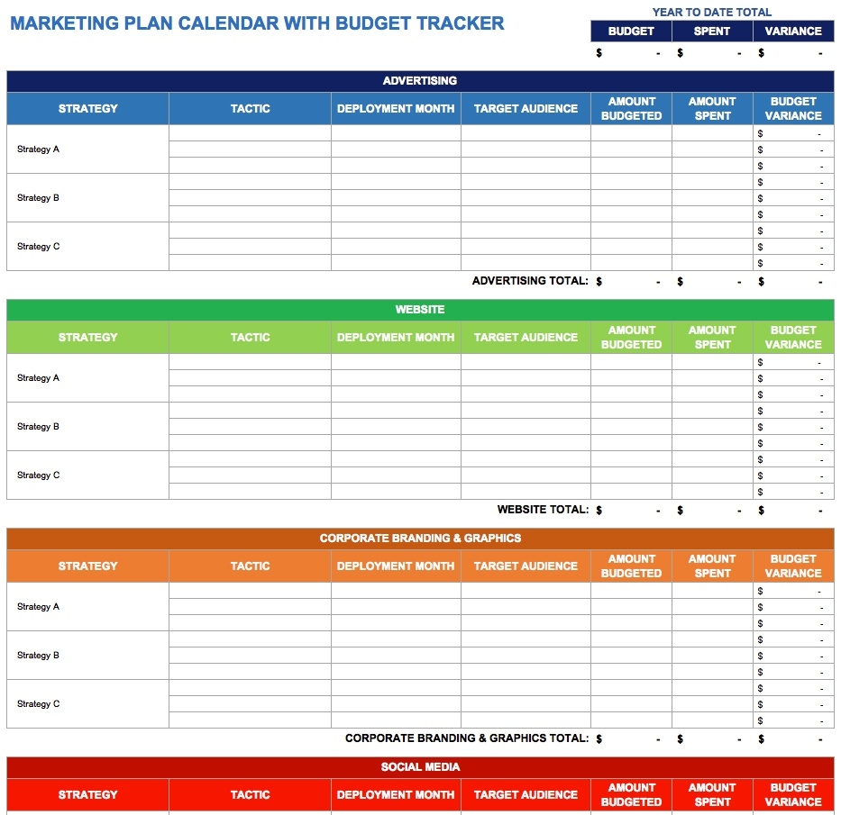 9 Free Marketing Calendar Templates For Excel - Smartsheet  Schedule Of Activities Calendar Format
