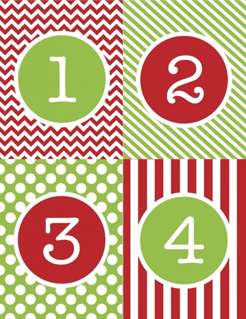Advent Calendar Number Printables | Christmas!! | Pinterest  Printable Calendar Pieces To 31