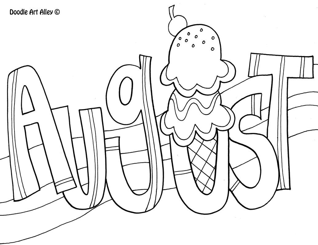 August Coloring Page … | Kid's Crafts | Pinte…  August Printable Images To Color