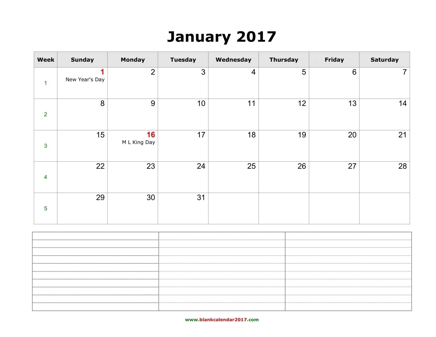 Blank Calendar 2017  12 Month Calendar Word Template