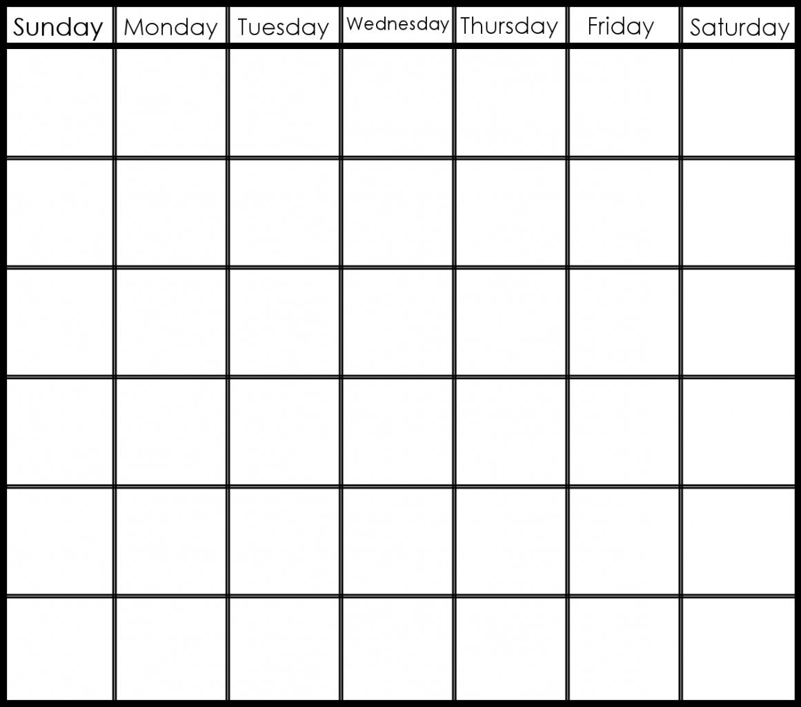 Blank Calendar Print Outs Printable Template Inside 6 Week Regarding  6 Week Printable Blank Calendar