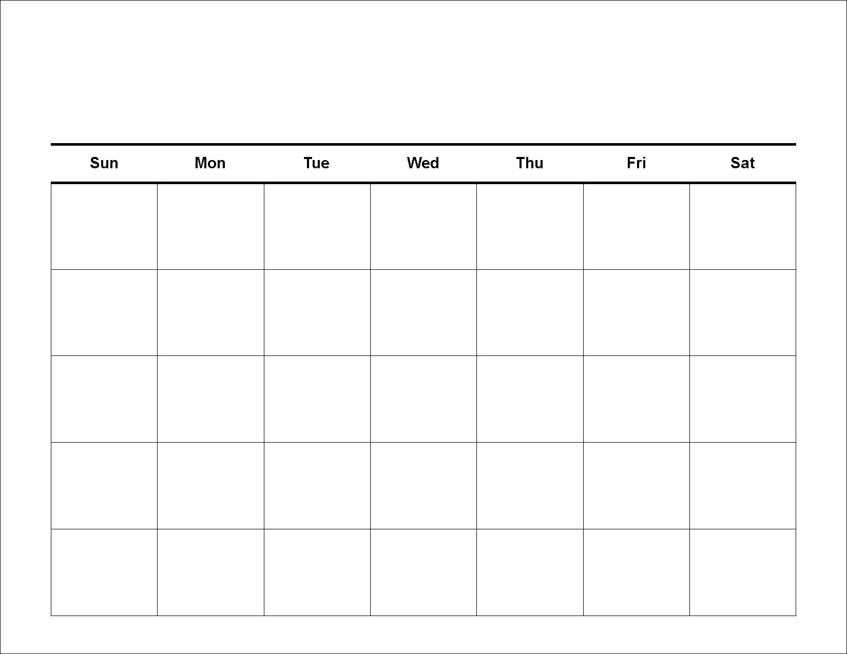 Blank Calendar - Printable 2016 Calendar Templates  Fill In Calendar Template Printable