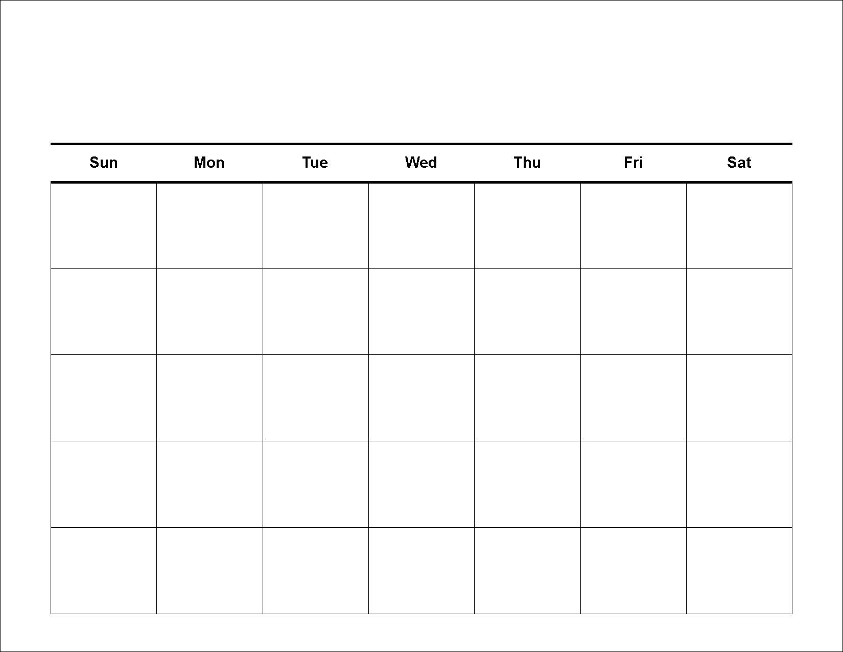 Blank Calendar - Printable 2016 Calendar Templates For 4 Week  Blank 4 Week Calendar Printable