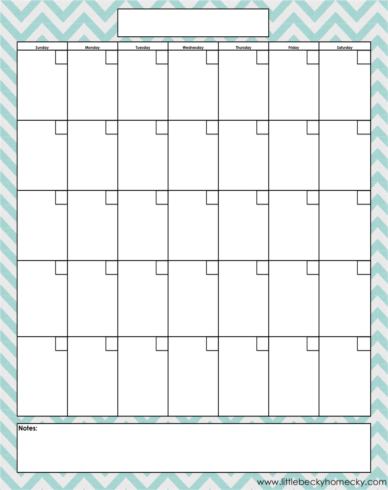 Blank-Monthly-Calendar-Printable-Pdfs  Blank Printable Calendar By Month With Notes