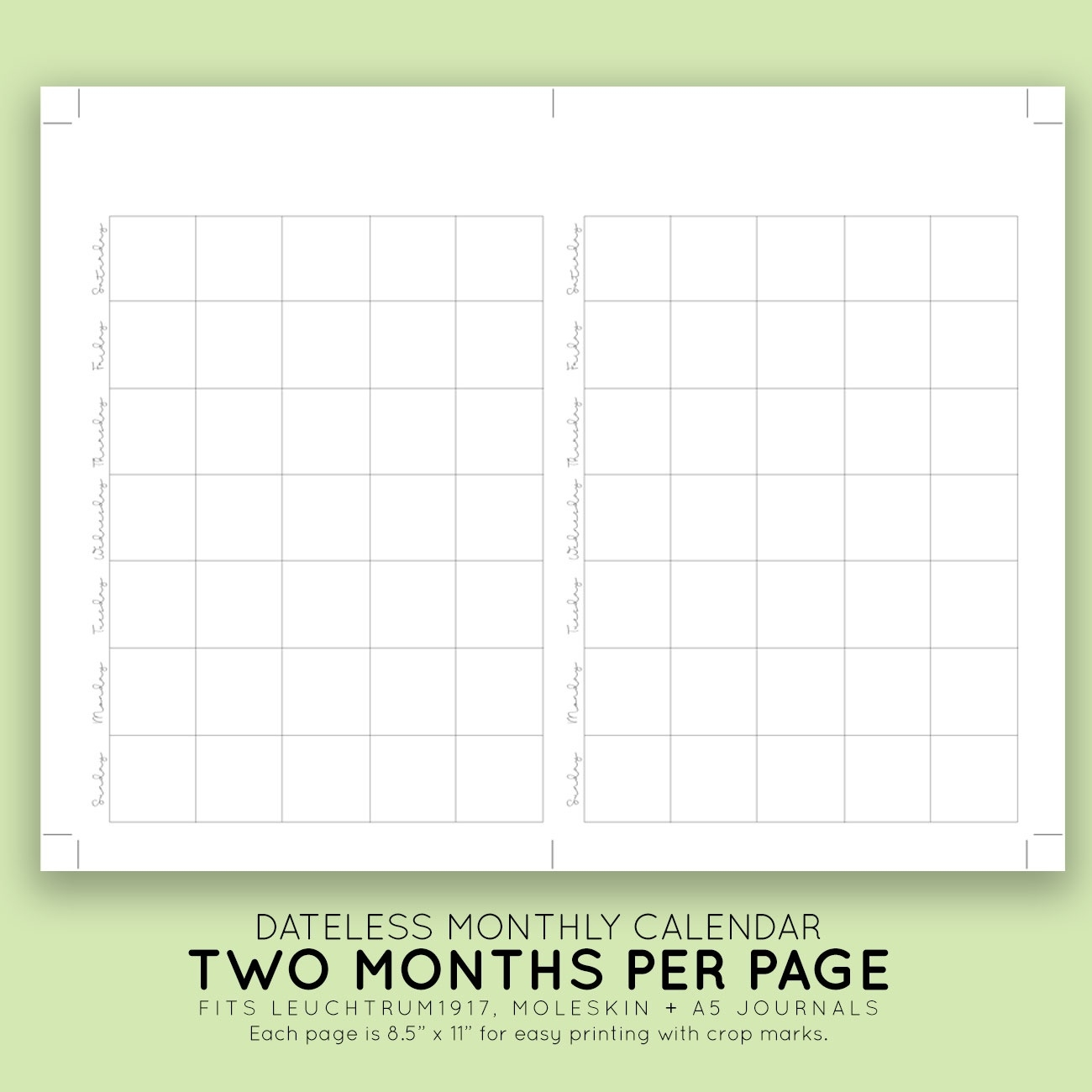 Blank Monthly Printable Calendar | Laura Kinker - Designer, Life  Printable Blank Monthly Calendar With Lines For Purse