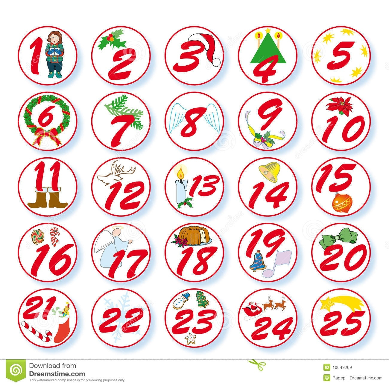 Calendar Free Clipart Numbers  Printable Calendar Pieces To 31
