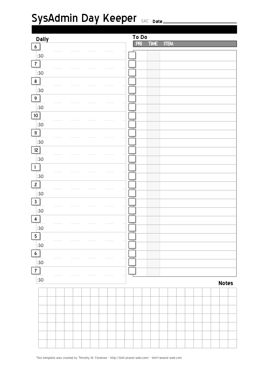 Daily Project Organizer Templates Free | Free Daily Planner Calendar  Daily Calendars Free Printable Editable