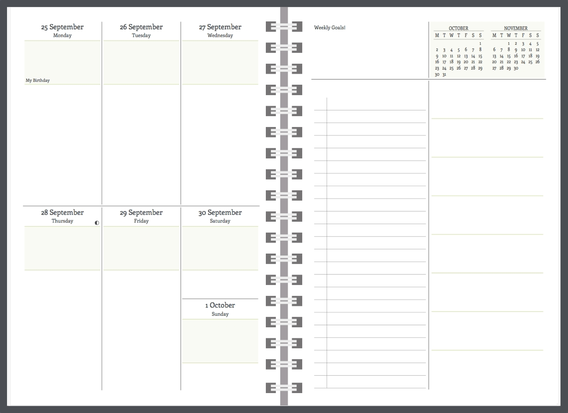 Exclusive Planner Features At Agendio  Monday Through Friday Daily Planner