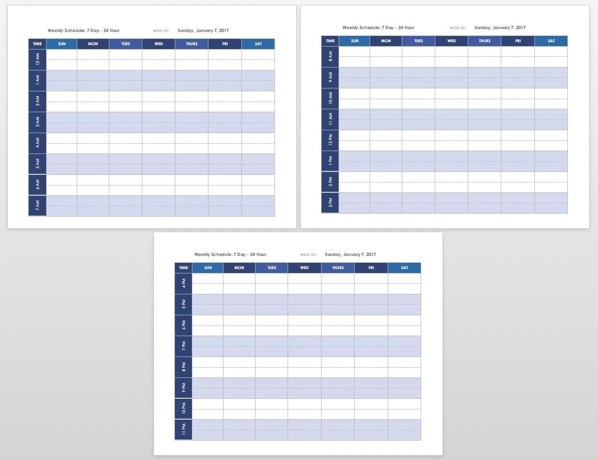 Free Blank Calendar Templates - Smartsheet  Fill In Blank Weekly Calendar Templates