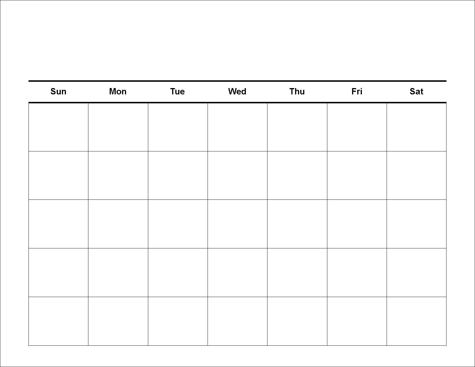 Free-Blank-Printable Calendar Templates  Fill In Printable Monthly Calendar