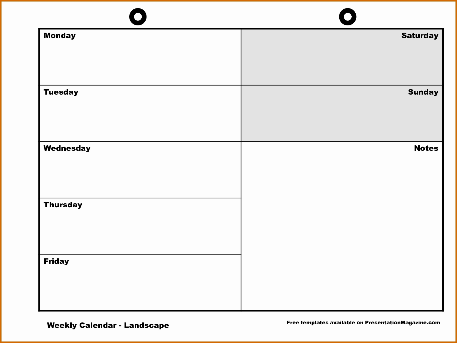 Free Monday Through Friday Calendar Template | Blank Calendar Template  Free Monday Through Friday Calendar Template
