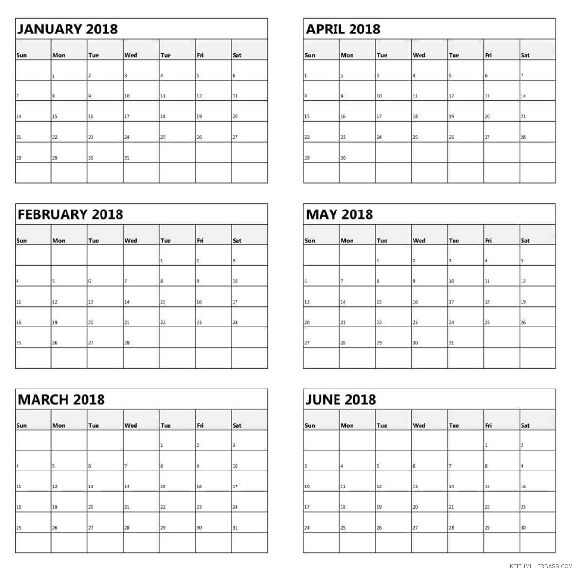 Free Printable 6 Month Calendar 2019 | Keith Miller Bass  Free Printable 6 Month Calendar