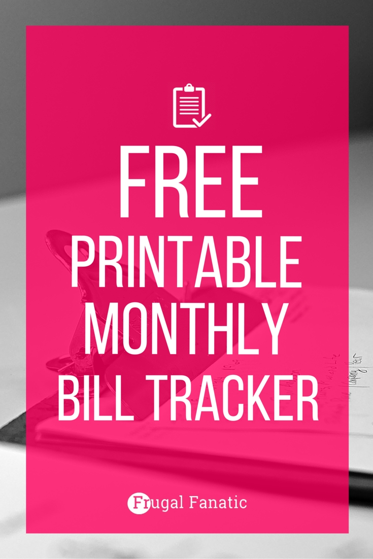 Free Printable Bill Tracker: Manage Your Monthly Expenses  Printable Monthly Bill Payment Worksheet