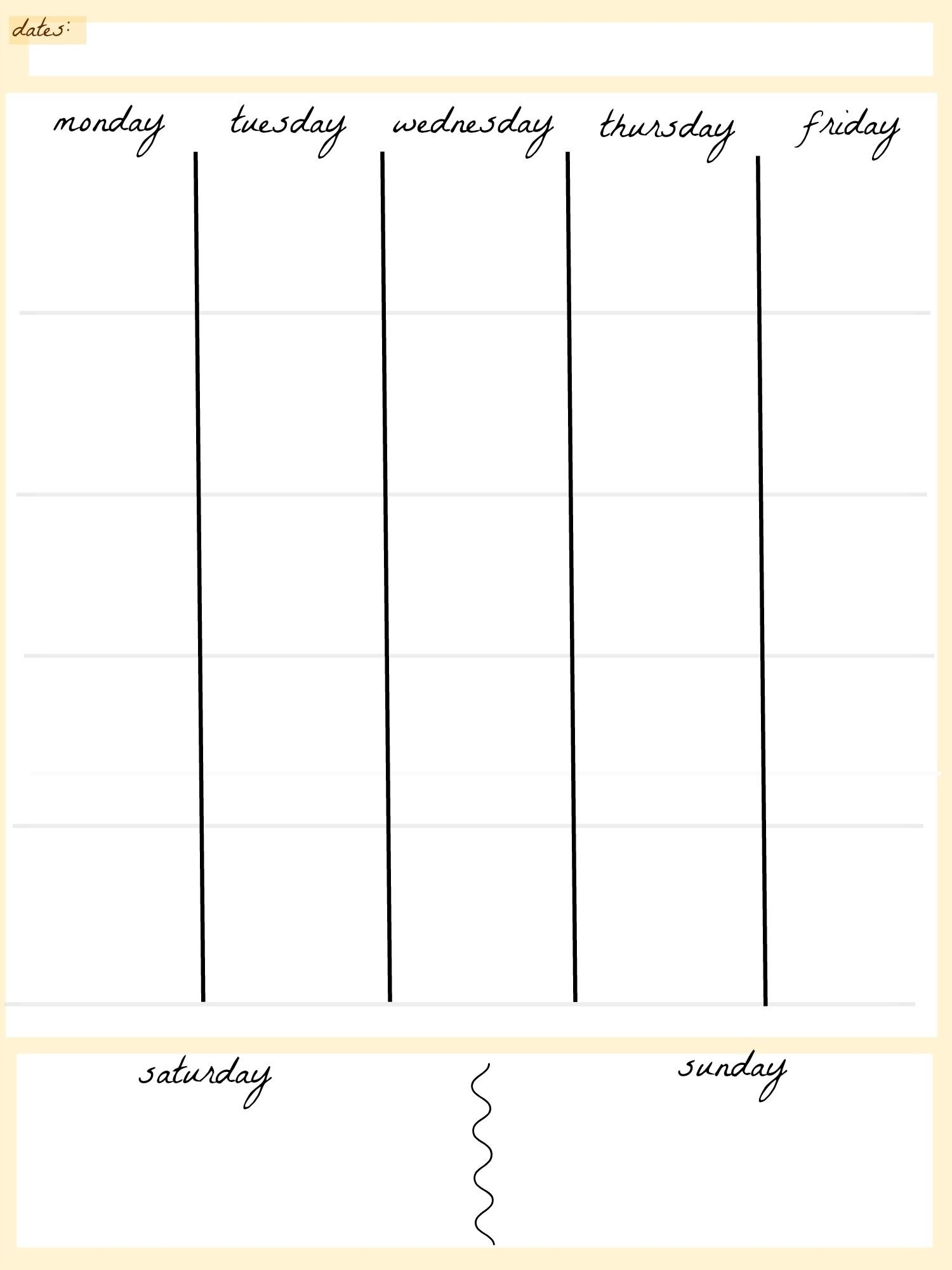 Free Printable Blank Weekly Calendar Templates | Template Calendar  Blank 4 Week Calendar Printable