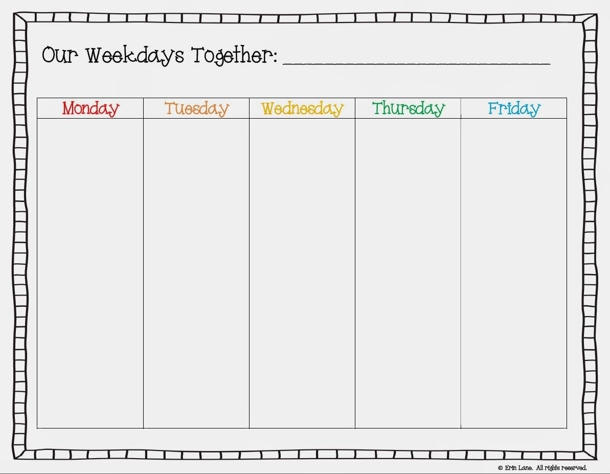 Free Printable Weekday Only Calendar - Google Search | Cool  Blank Calendar With Only Weekdays