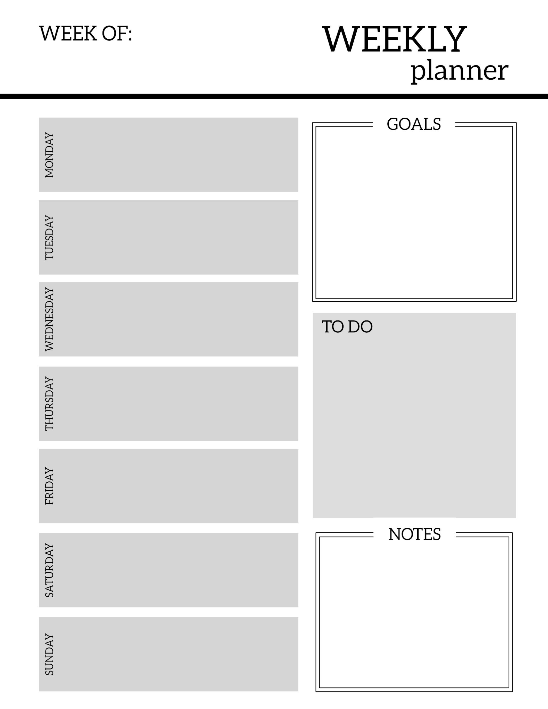 Free Printable Weekly Planner Pages - Paper Trail Design  Printable Weekly Planner For The Week