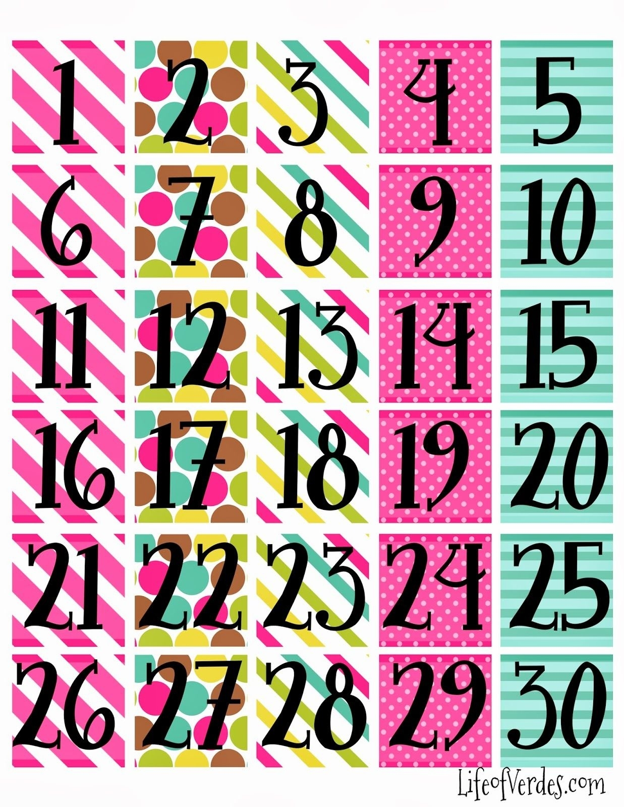 Free+Printable+Calendar+Numbers | Household Info | Pinterest  Printable Calendar Pieces To 31