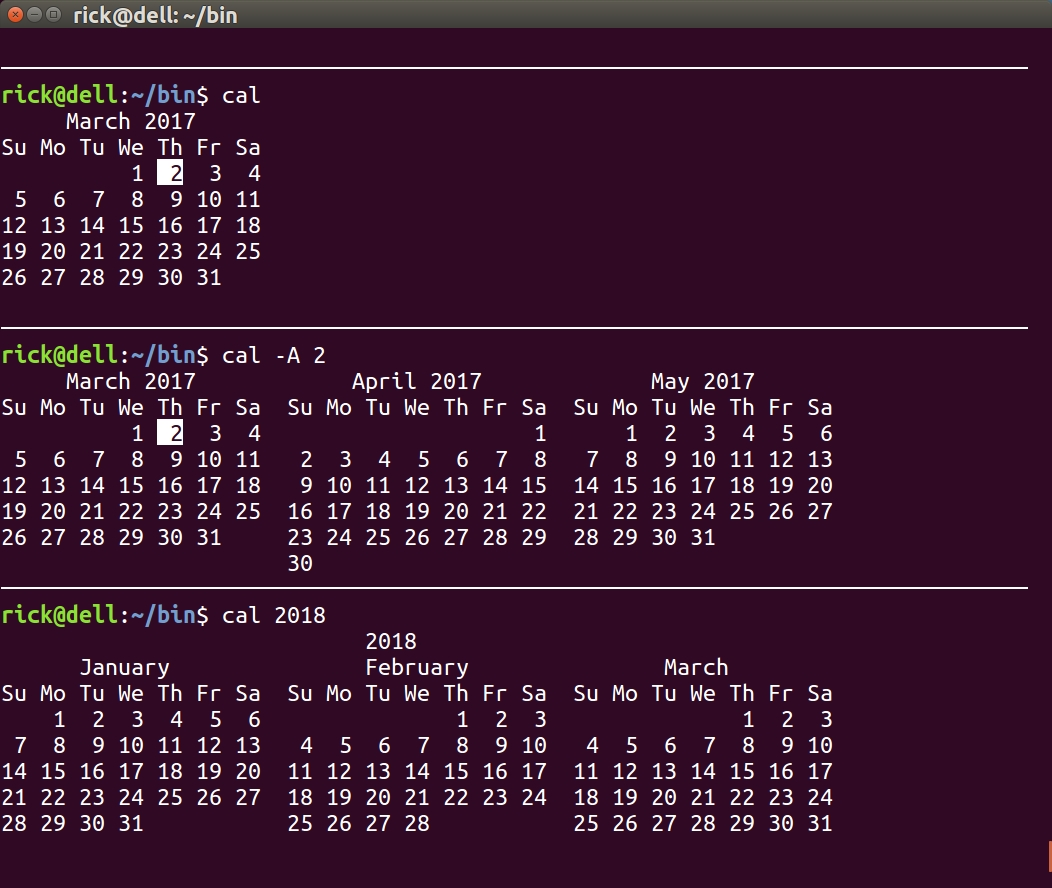 Is There A Command To Display A Calendar In The Terminal? - Ask Ubuntu  Example Of Calendar Month Python 3