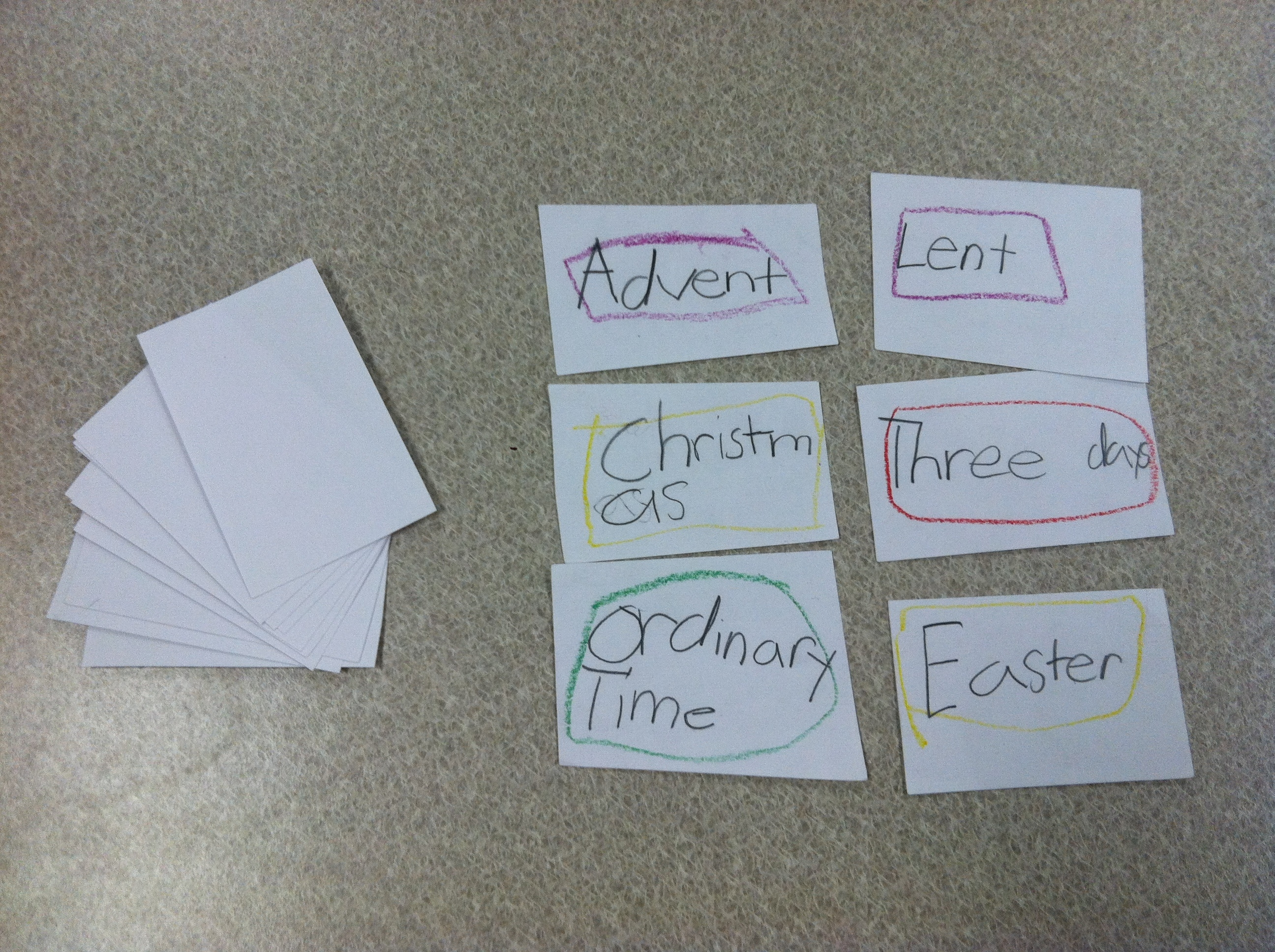 Liturgical Year Lesson Plan And Flashcard Activity | The Religion  Teaching The Catholic Liturgical Calendar