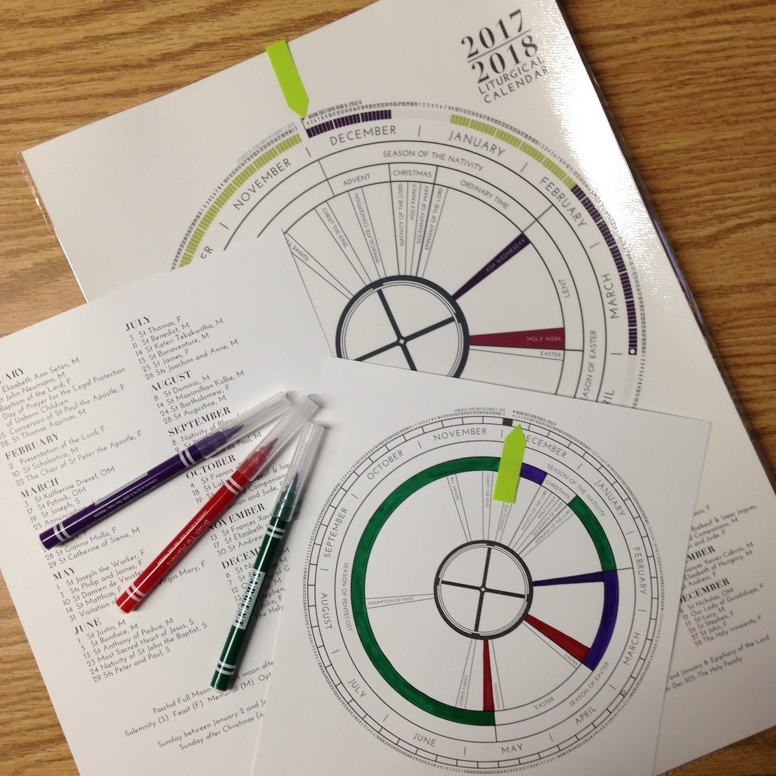 Look To Him And Be Radiant: Learning About The Liturgical Year  Teaching The Catholic Liturgical Calendar
