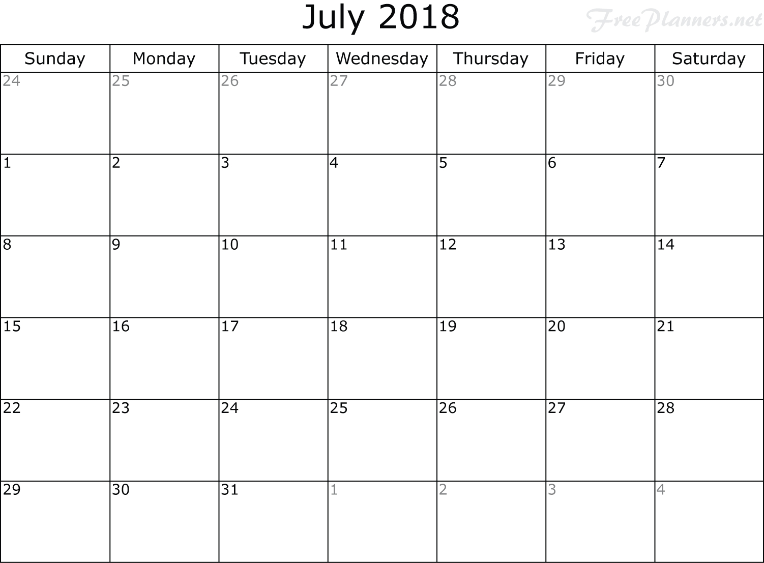 Monthly Calendar Planners - Monthly Planner - Free Planners  June And July Monthly Calendar
