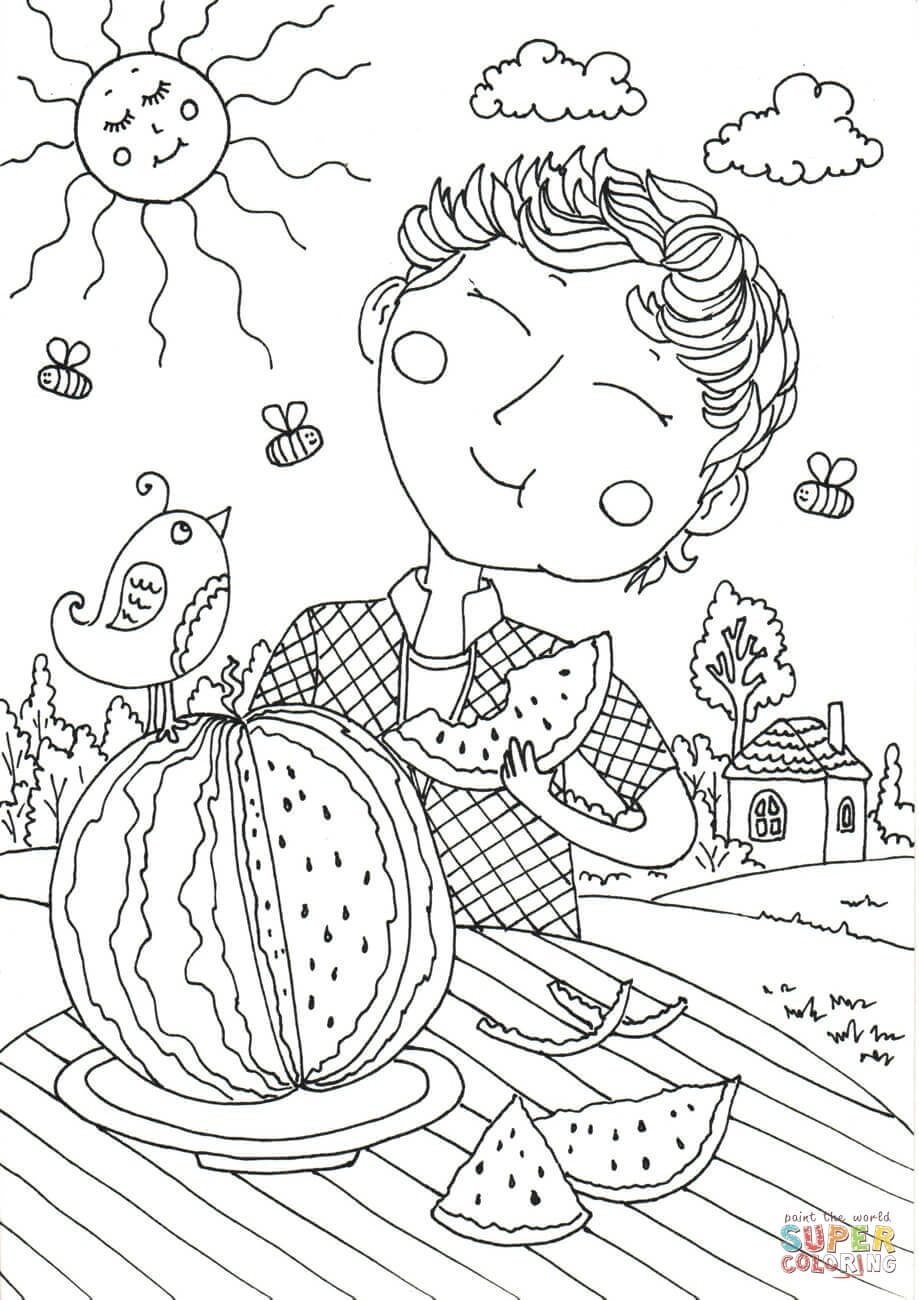 Peter Boy In August Coloring Page | Free Printable Coloring Pages  August Printable Images To Color