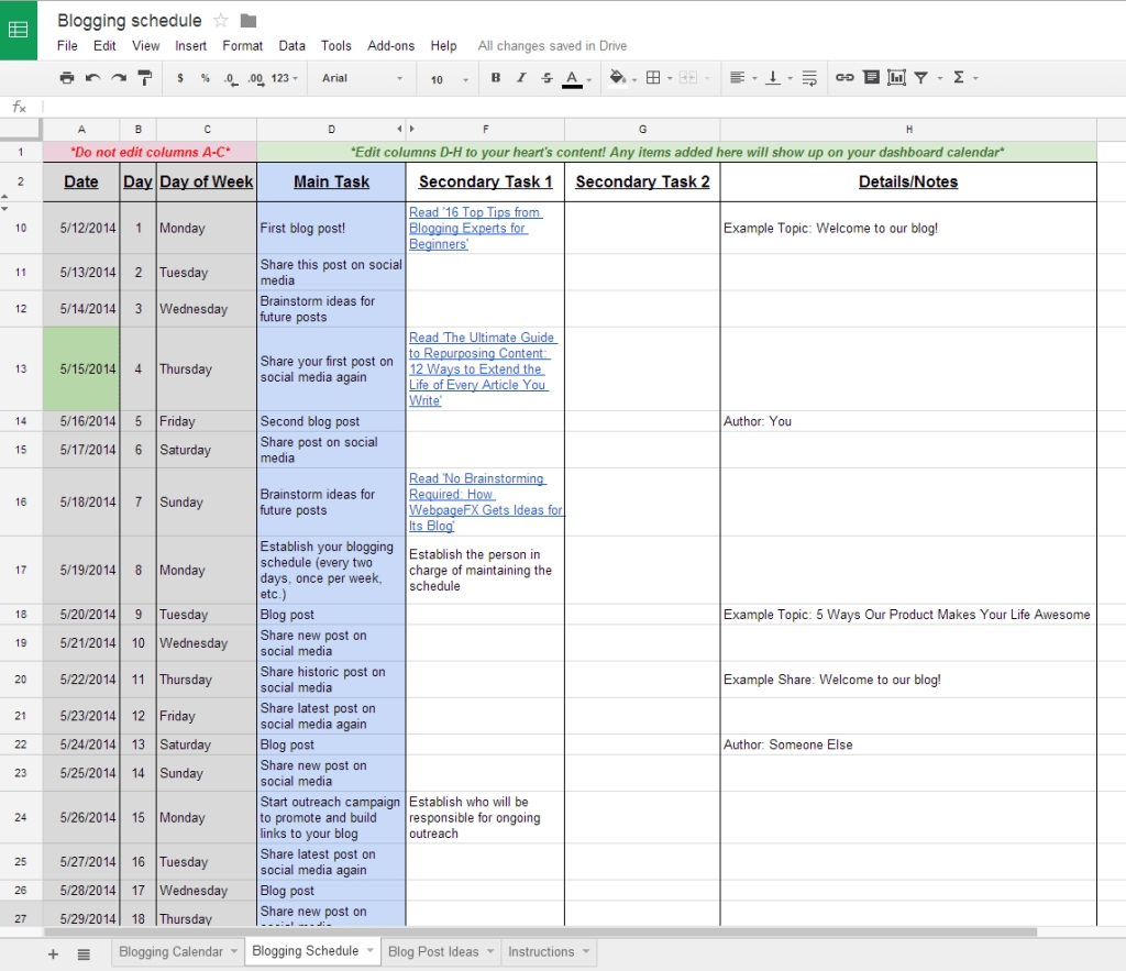 The Complete Guide To Choosing A Content Calendar  Schedule Of Activities Calendar Format