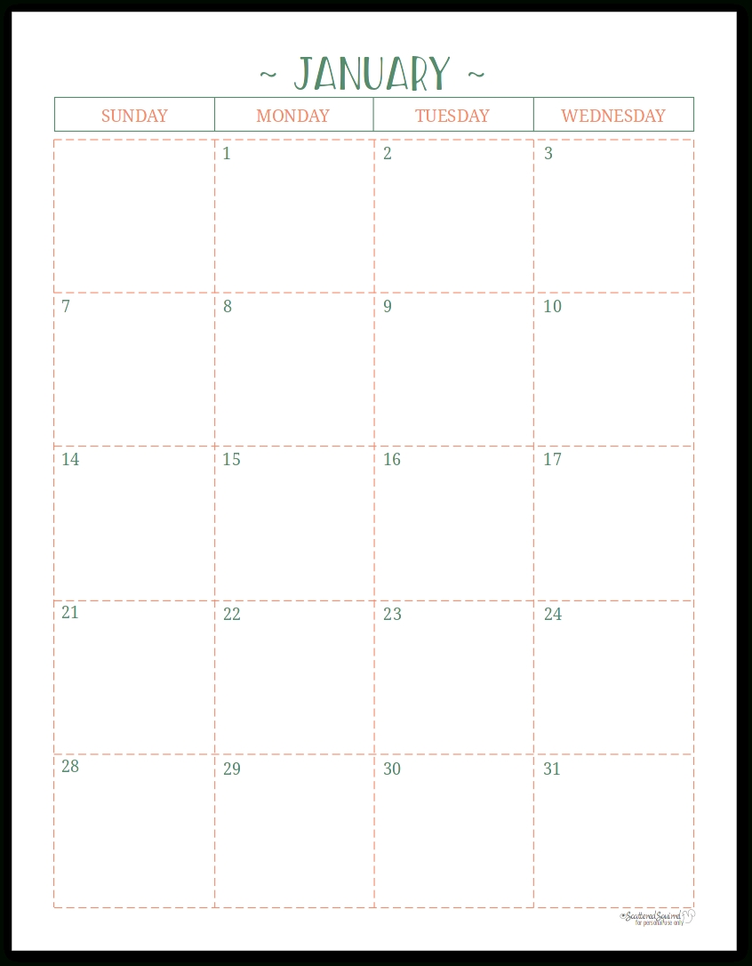 Two Page Per Month 2018 Dated Calendars Are Ready  Printable Blank Monthly Calendar With Lines For Purse