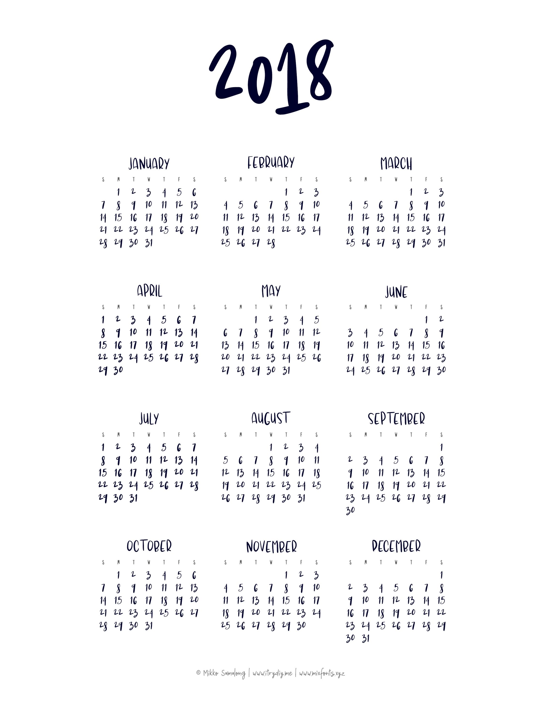 Year At A Glance Calendar | Templates & Printables | Pinterest  Template For Year At A Glance Calendar