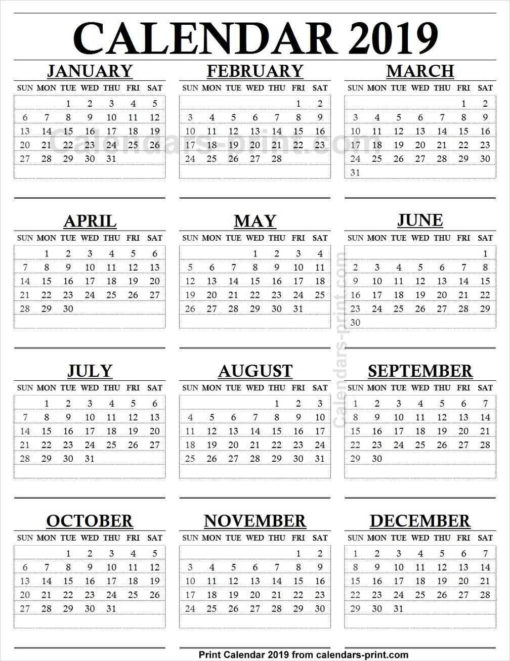 1 Page 9 Month Calendar | Holidays Calendar Template  1 Page 9 Month Calendar