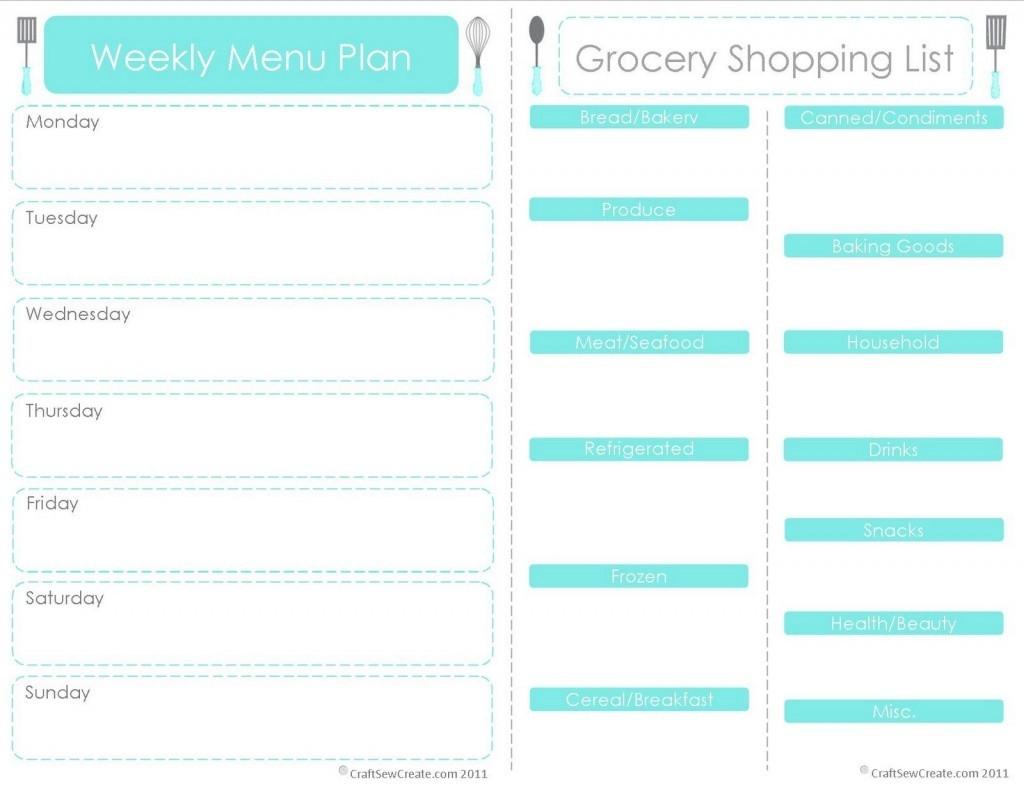 20 Free Menu Planner Printables | Fab N' Free  Calendar Weekly Menu Print Outs