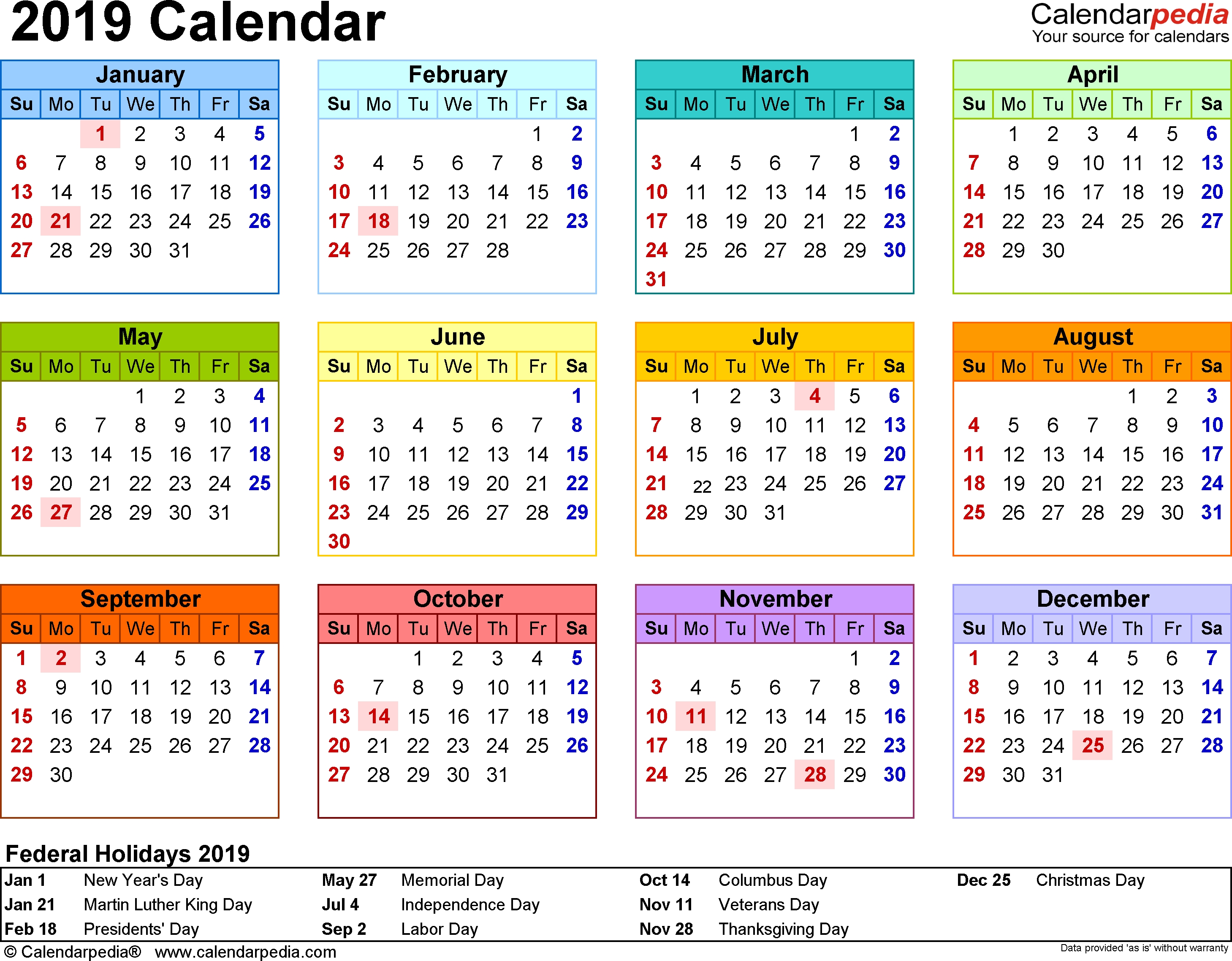 2019 Calendar One Page | Printable Calendar Template | Printable  1 Page 9 Month Calendar