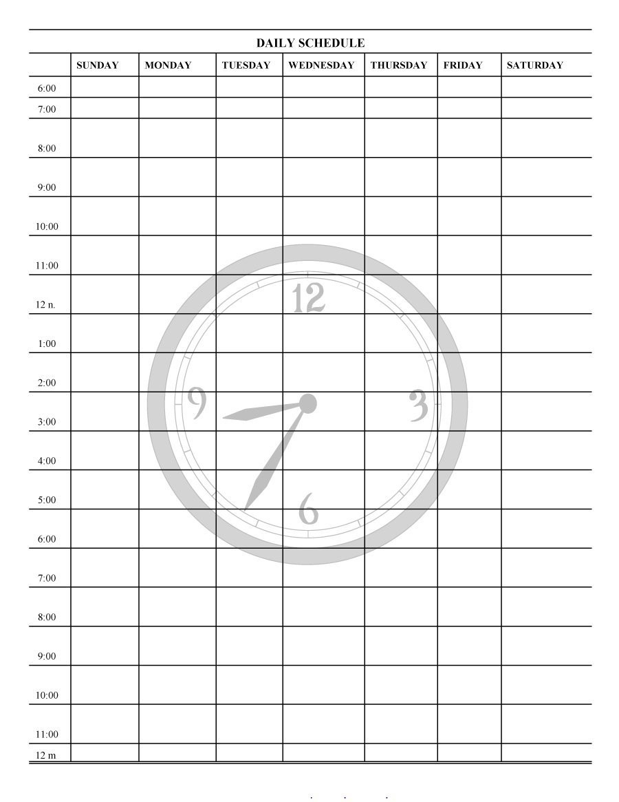 40+ Printable Daily Planner Templates (Free) ᐅ Template Lab  One Week Daily Calendar Printable