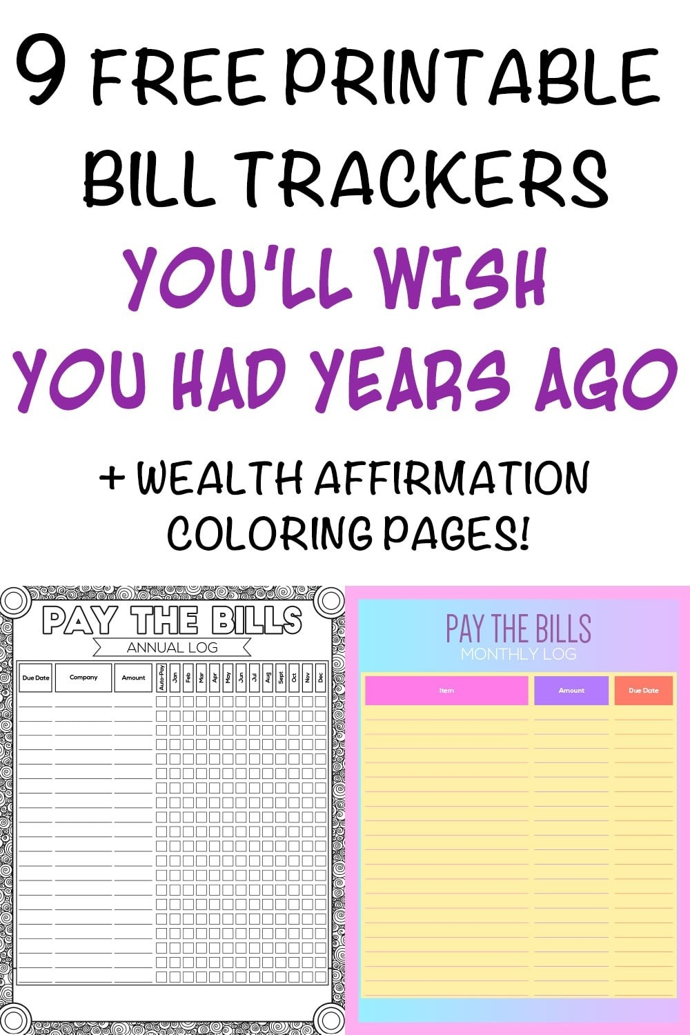 9 Printable Bill Payment Checklists And Bill Trackers - The Artisan Life  Monthly Bill Bill Checklist With Confirmation Number Column