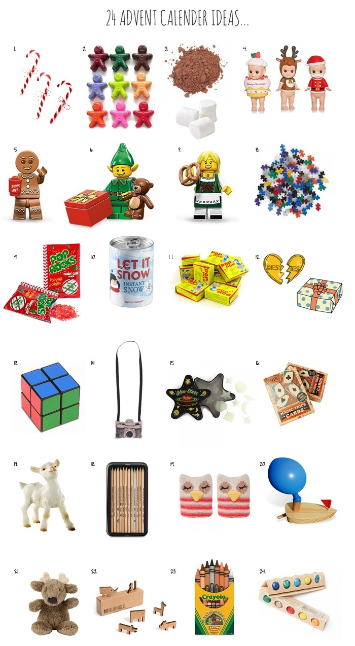 Advent Calendar Gifts & Surprises -  Girls Advent Calendar With Gifts