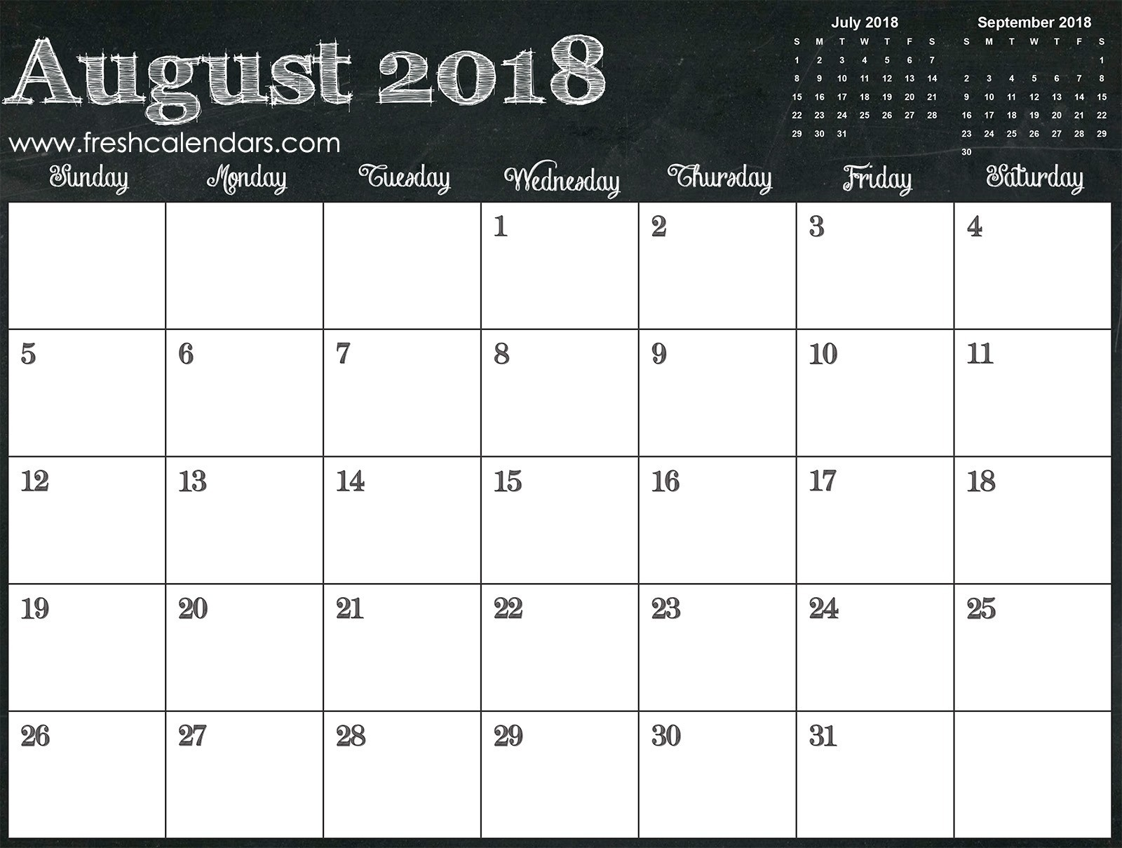 Blank August 2018 Calendar Printable Templates 3 Month Printable  3 Month Printable Calendar Online August