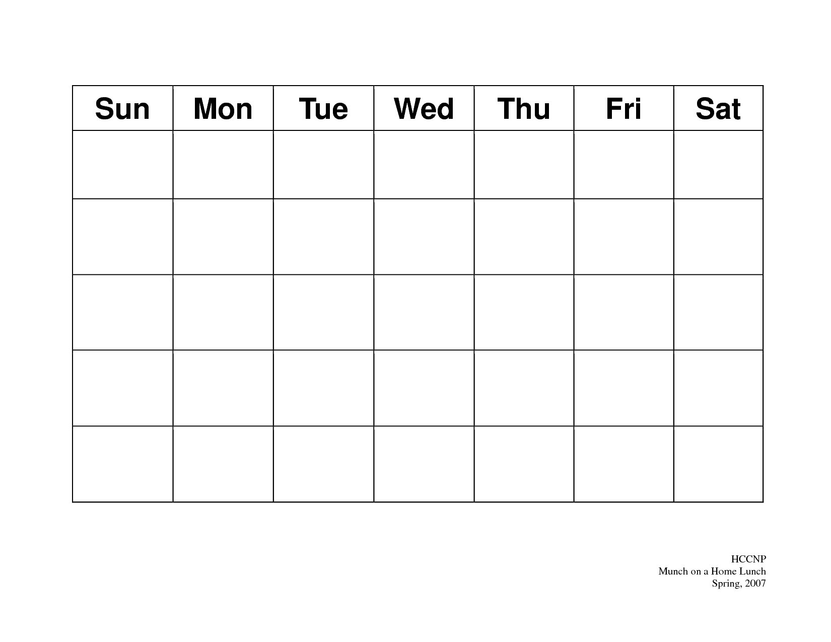 Blank Calendar With 31 Day Calendar Template - Free Calendar Collection  31 Day Month Calendar Printable