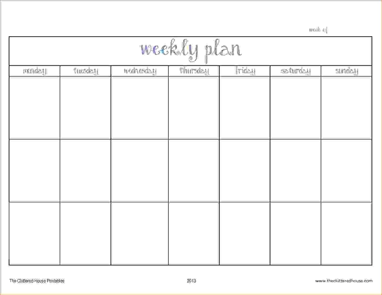 Blank Two Week Schedule Template | Blank Calendar Template Two Week  Two Week Blank Calendar Template
