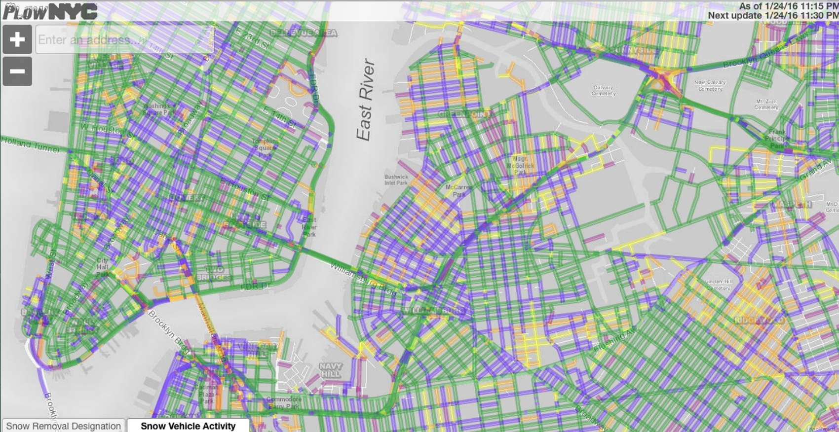 Check Out This Interactive Plow Map Of Which Nyc Streets Have Been  Nyc Parking Map Alternate Side