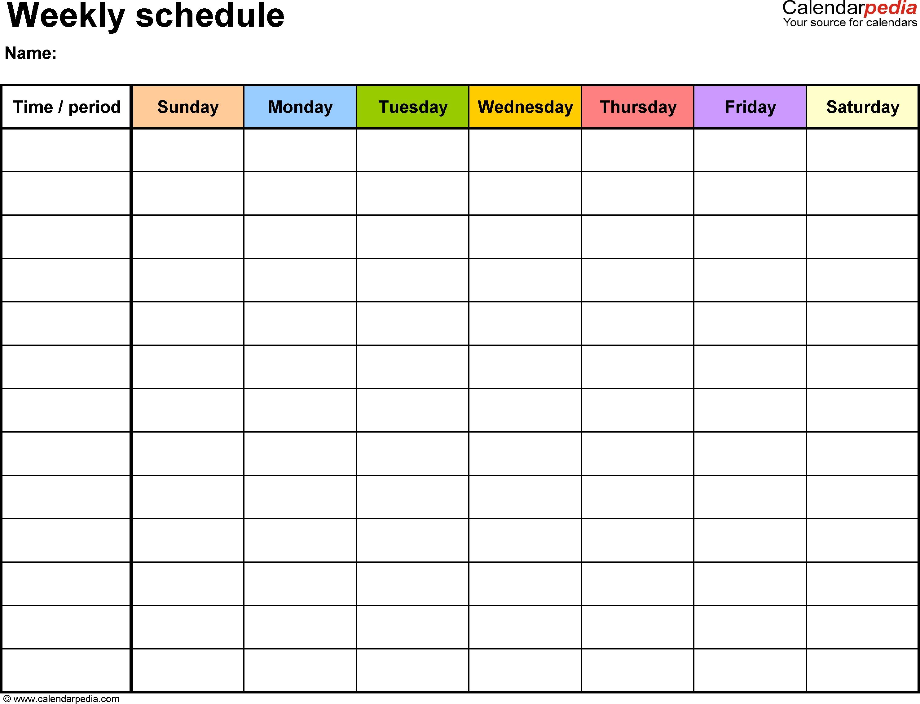 Editable Eekly Calendar Printable Eek Template Ith Time Slots Excel  Blank Sheet Lines Calendar With Time Slots