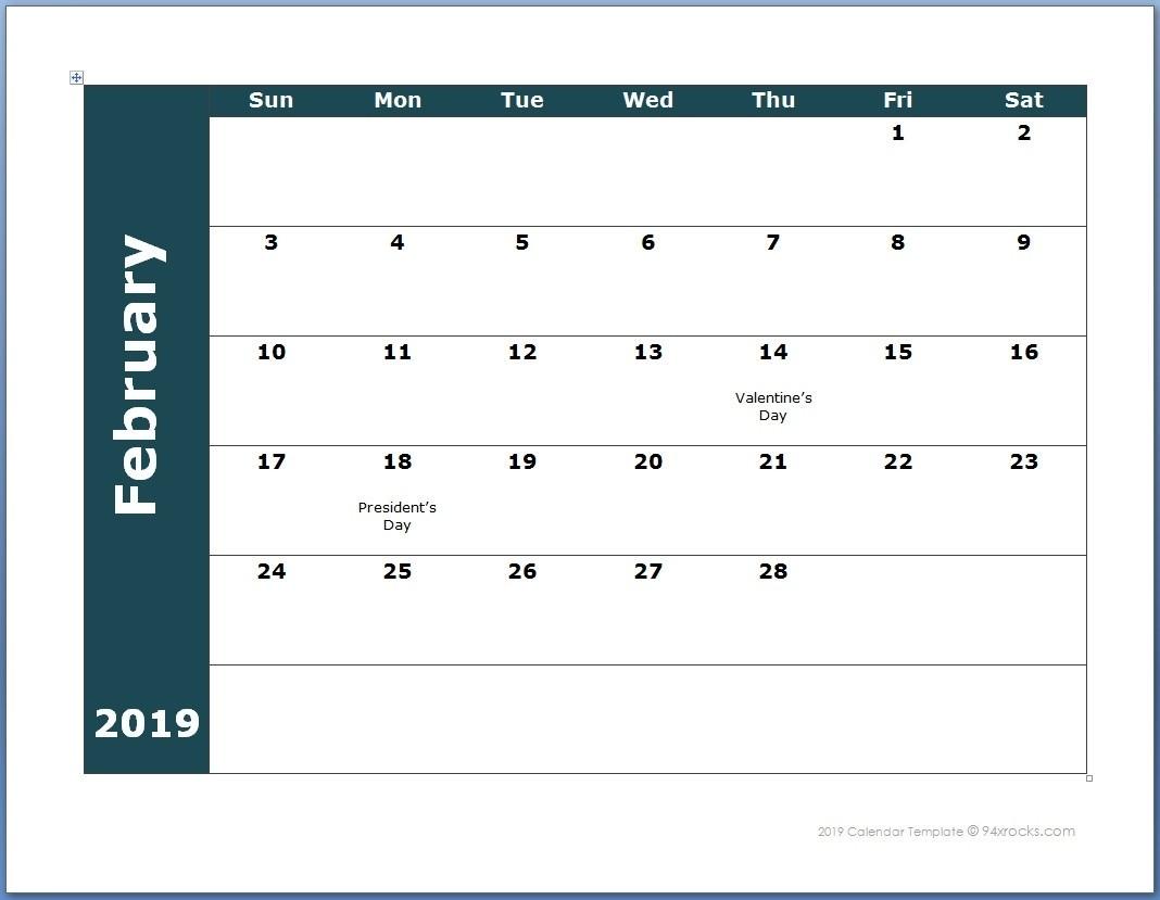 Extraordinary Printable Blank Calendarmonth 2019 • Printable  Free Printable 12 Month Blank Calendar