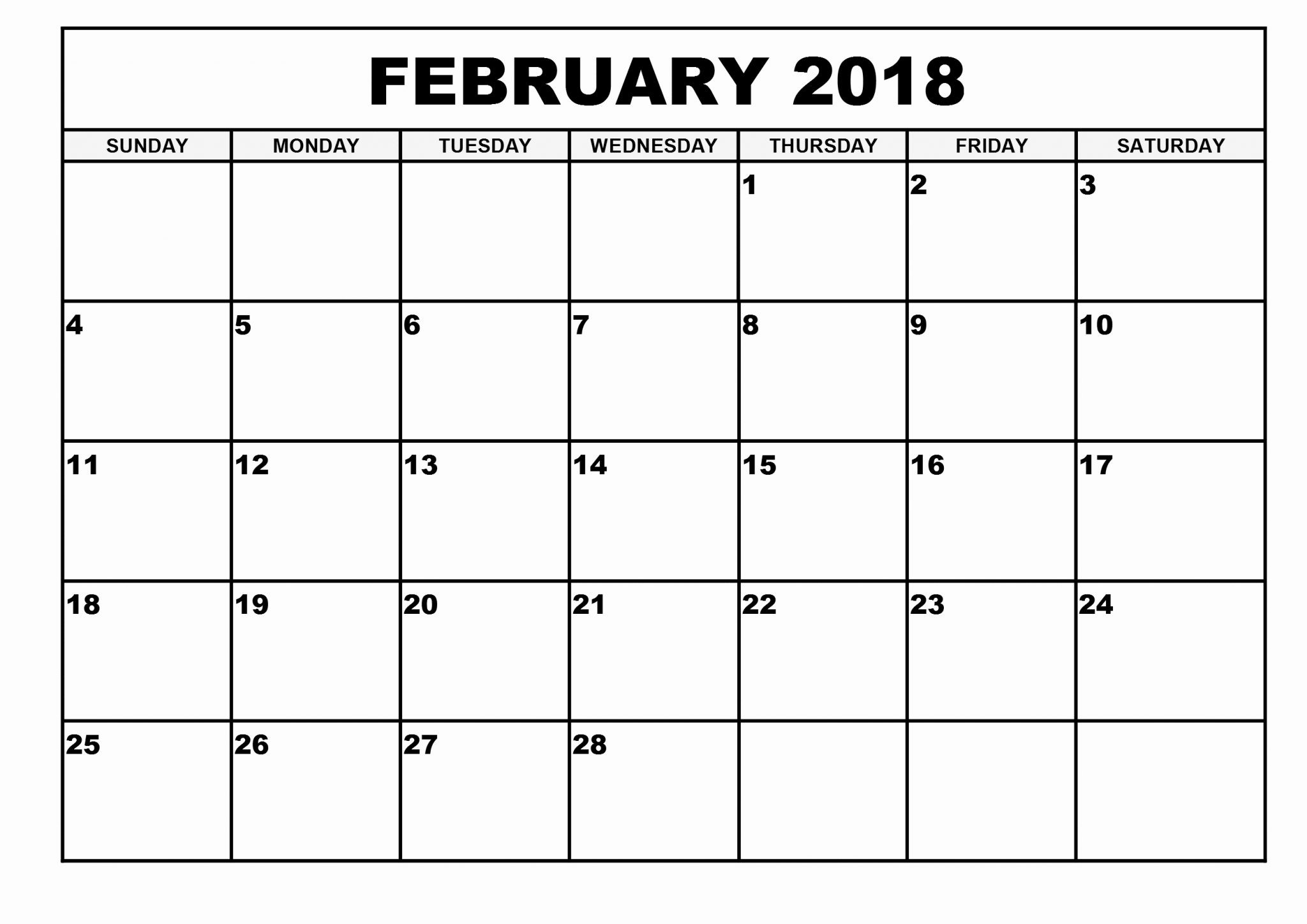 Free] 50+ February 2019 Calendar Printable Pdf With Notes A4 Page  Calendar Blank Printable Monday Start A4