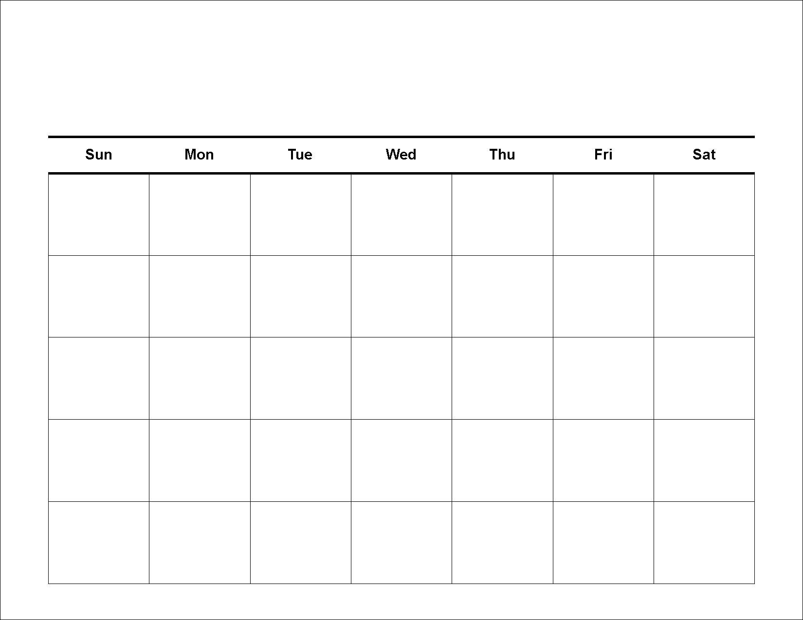 Free Printable 5 Day Monthly Calendar 2019 | Holidays Calendar Template  Printable 5 Day Monthly Calendar
