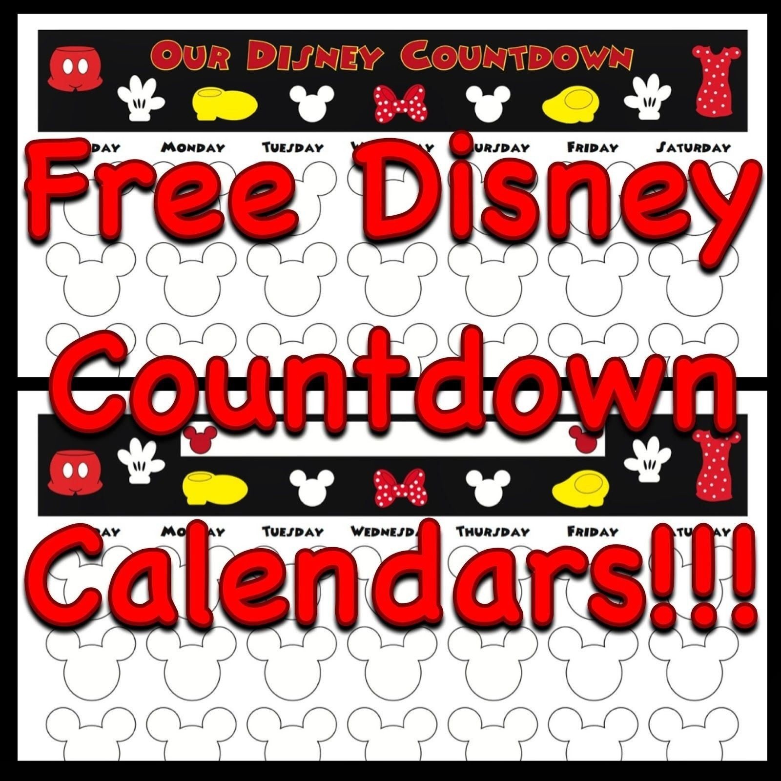 Free, Printable Countdown Calendars To Use For Your Next Disney Trip  Free Printable Vacation Countdown Calendar