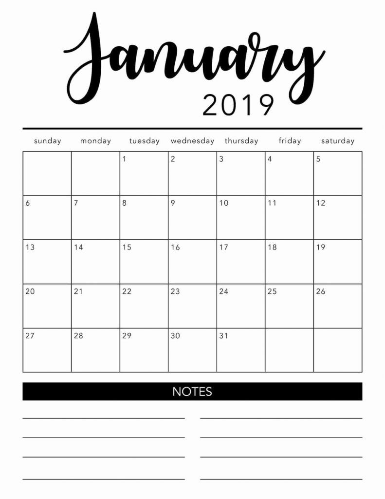Free Printable Monthly Calendar Templates 2019 January 2019  Free Printable Calendar Templates Month