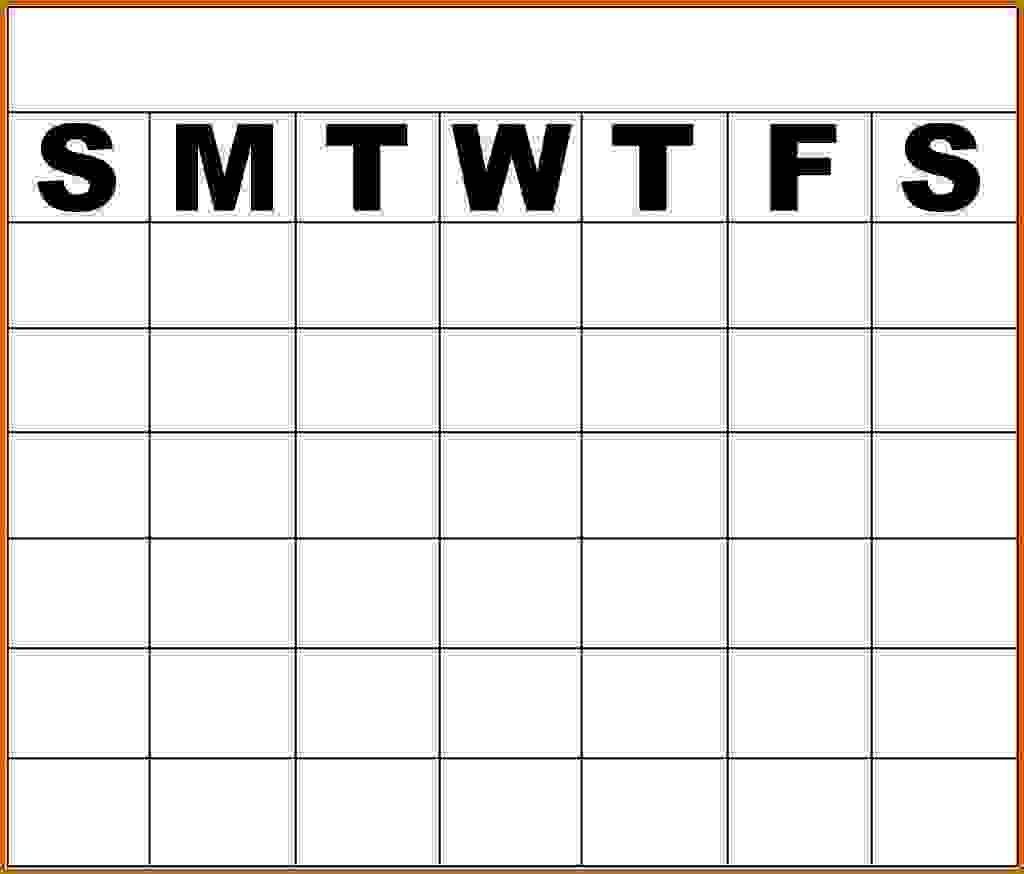 Free Printable Weekly Alendar Monday To Friday Through Template Word  Monday Through Friday Schedule Printable