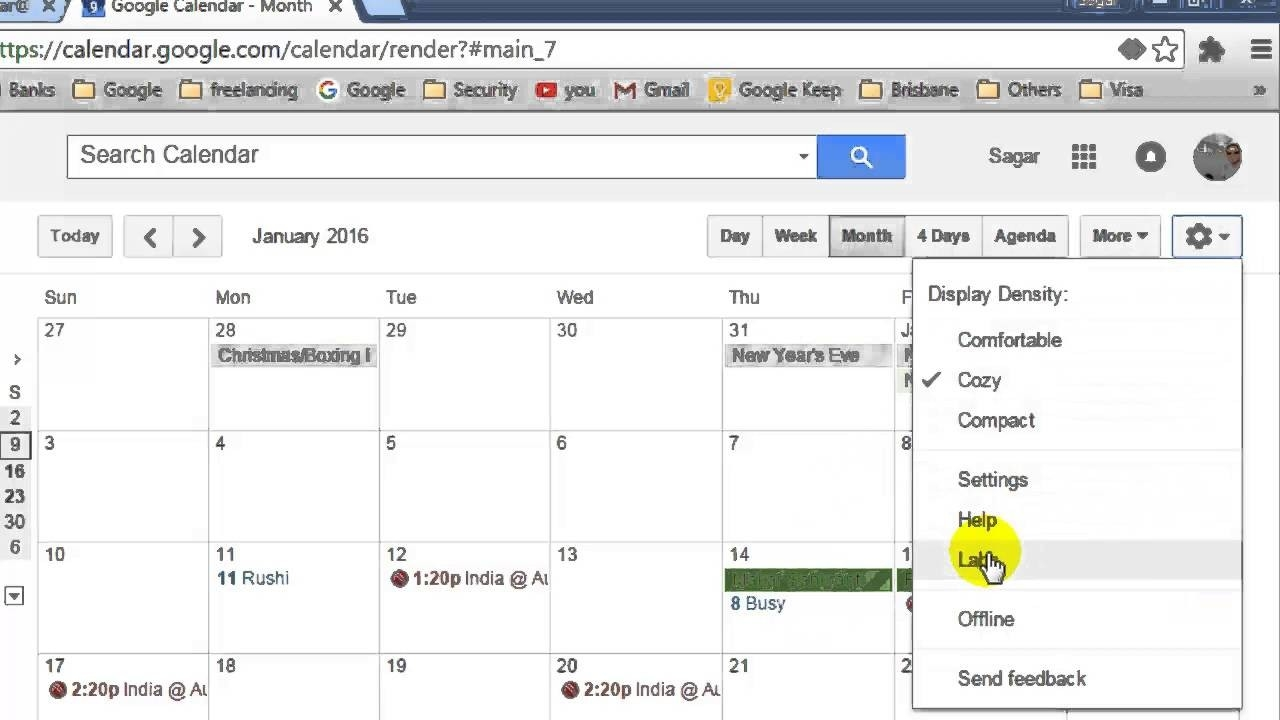 How To Show Year View In Google Calendar - Youtube  Year At A View Calendar