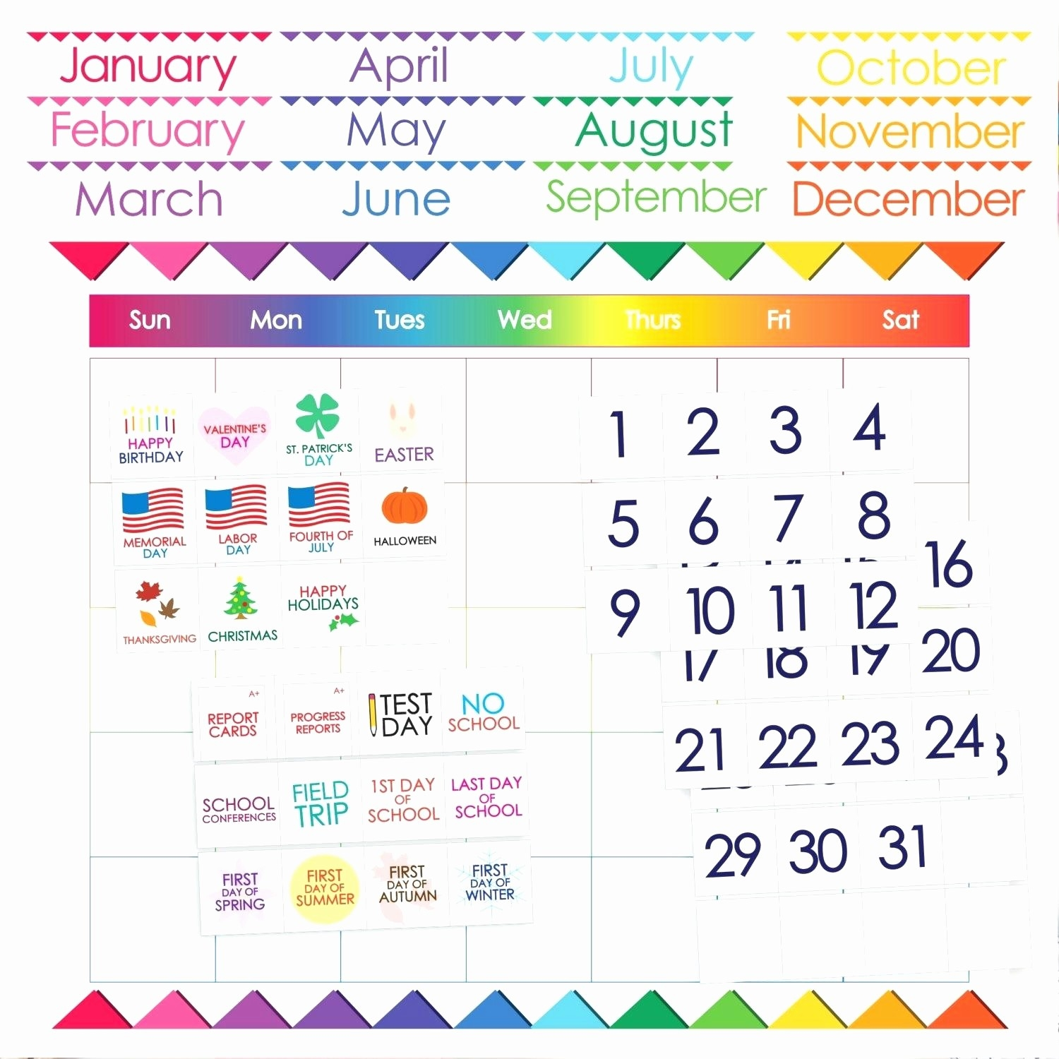 Https://www.basketshoescenter/35-12-Month-Calendar-Printable  Large Printable Calendar Numbers 1-31
