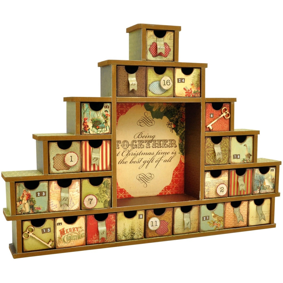 Kaisercraft Beyond The Page Mdf Shadow Box With Drawers Advent  Wooden Shadow Box Advent Calendar